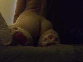 Horny Babygirl Rubbing Her Pussy On Her Giant Stuffed Bear