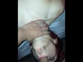 Throat fucking my 18 year old boyfriend
