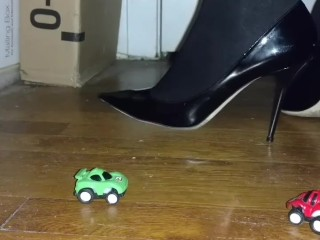 Black Patent Jimmy Choos and Tights Dominate Tiny Cars (Toy Crush)