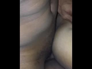 Cumshot in her ass
