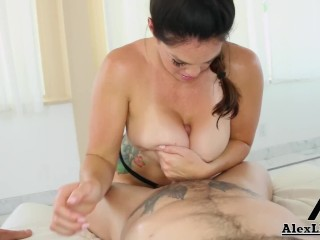 hot milf with huge breasts alison tyler blows a big french cock!