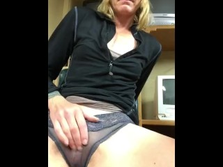 Horny Girls Work Break Orgasm
