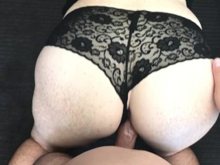 Fuck me in my sexy black panties and cum in my pussy