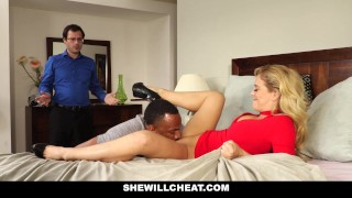 SheWillCheat - Slut Wife Finds First BBC On Social Media  big tits bbc big cock cheating cuckold wife mom blonde metromoney interracial shaved mother shewillcheat facial cum shot cherie deville