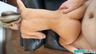 Preview 3 of Bubble butt Russian babe gets covered in cum after Twitter hookup