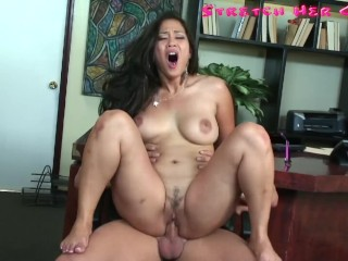 big tit asian jessica bangkok gets her pussy stretched by big dic