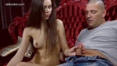 Anastasia Seymour grabs cock for the first time and loves it