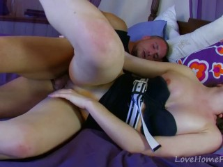 Petite Brunette Can't Get Enough Hard Cock