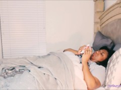 BBW Sick In Bed Blowing Nose HD