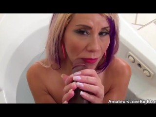 tattooed mature games with a black guy in the bath