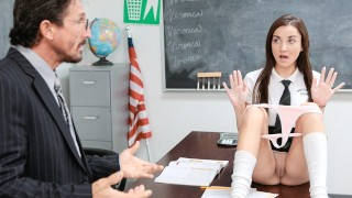 InnocentHigh - Slutty Schoolgirl Fucked By The Principal
