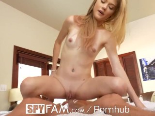 SpyFam Meaty pussy step sister Hannah Hays fucked by step brother