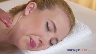 Preview 1 of Massage Rooms Horny lesbians kiss lick and fuck until loud orgasms