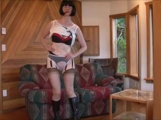 FFstockings - Mature sheer panty tease