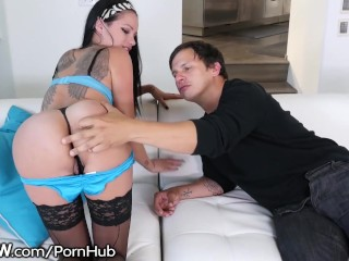 BSkow Raven Bay Spanked and Drilled to Orgasm