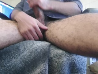 Amateur BBC Jerk off (Self-Shot) (Big Black Cock)