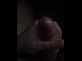 My boyfriend's slow motion jerk off with vibrating cock ring