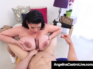 cuban curvy angelina castro pays her trainer with a hot bj!
