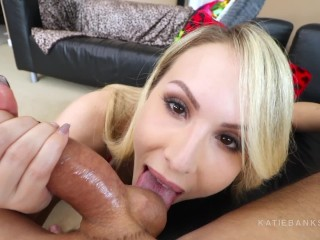 POV Block Party Hookup on the DL - Canadian girl Katie Banks