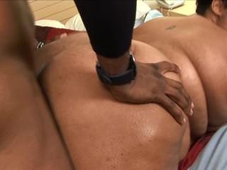 huge black slut bbw gets her big wet pussy filled with hard bbc