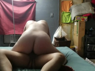 I love to ride my daddy's cock