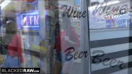 BLACKEDRAW Riley Reid rims black stud in hotel room