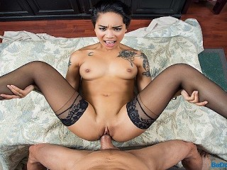 BaDoinkVR.com Inked Asian Teen Babe Honey Gold Needs Your Cock