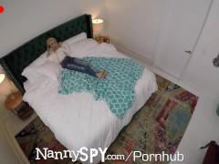 NannySpy Sneaky nanny Anastasia Knight new years eve fuck by HUGE dick