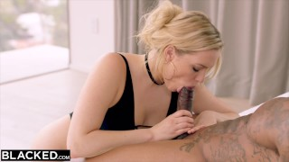 BLACKED Mia Malkova Loves BBC in First IR!!  big ass big cock lingerie riding blonde pile driver butt heels blacked doggystyle facial first interracial deep throat prone bone the hanging garden