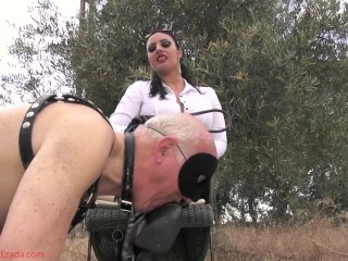 Proving his devotion by worshipping My boots