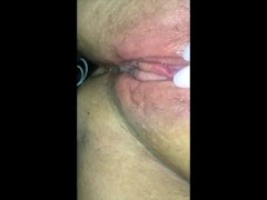 Teen amateur playing with dripping wet pussy in the car and cumming part #2