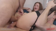 Big Natural Boobs Porn Star Stella Cox Rough Anal Double Penetration Abuse