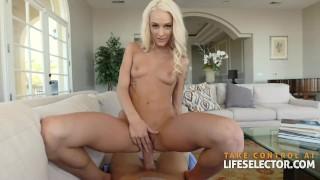 Emma Hix - Cute Blonde Devours Huge Dick