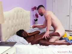 Black girl, white guy, HOT sex! - Naughty America