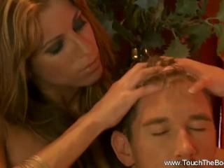 Handjob Blonde Is Expert Massage