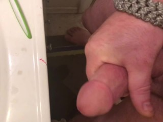 Pre shower masturbation