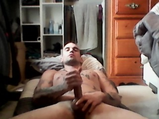 Just me stroking my hard dick