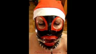 Jingle bells New Year's Eve latex Mrs. Claus ring gag dripping deepthroat  latex mask blowjob nose ring blowjob new years blowjob superhero bondage ring gag cumshot latex deepthroat spiel maschinerie bdsm kink rough amateur ring gag ring gag facefuck hand cuffed blowjobs mouth ring gag ring gag bondage ring gag deepthroat