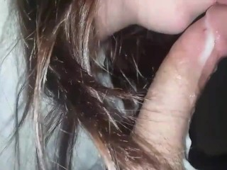 Draining his cum out of his cock