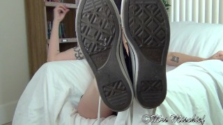 Footboner - pov foot fetish tease, sneakers, socks, and bare soles  foot pov feet pov foot tease sneakers foot fetish feet socks mrs mischief milf feet feet tease feet humiliation foot humiliation dana kane milf foot stinky feet smelly feet