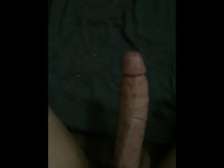 Huge cock shoots even bigger load handsfree