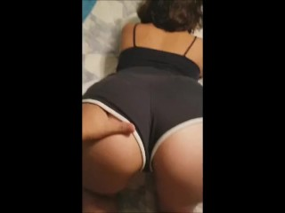 College latina gets hit from the back (part 2)