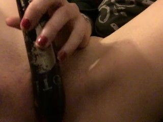 Teen girl cums quietly while family is home