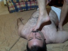 Come on slave - lick my feet -