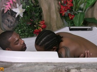 Rock and Jeno doing some exotic fucking in the jacuzzi