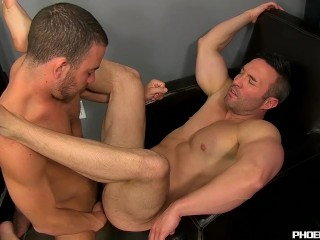 Horny Parker banging Brocks smooth hole until a jizzing end