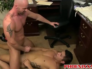 Mitch Vaughn and Spencer fucking once again in the office