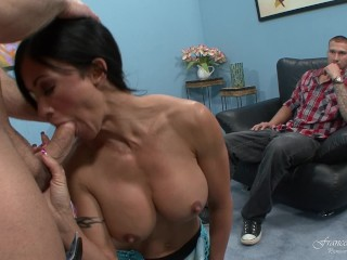 Cuckold House: Wow! finally my wife tries a big cock
