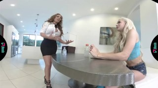 Preview 3 of VRHUSH Hot teen fucked by her step mom