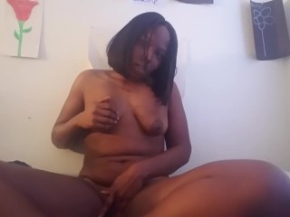 playing with my little titties